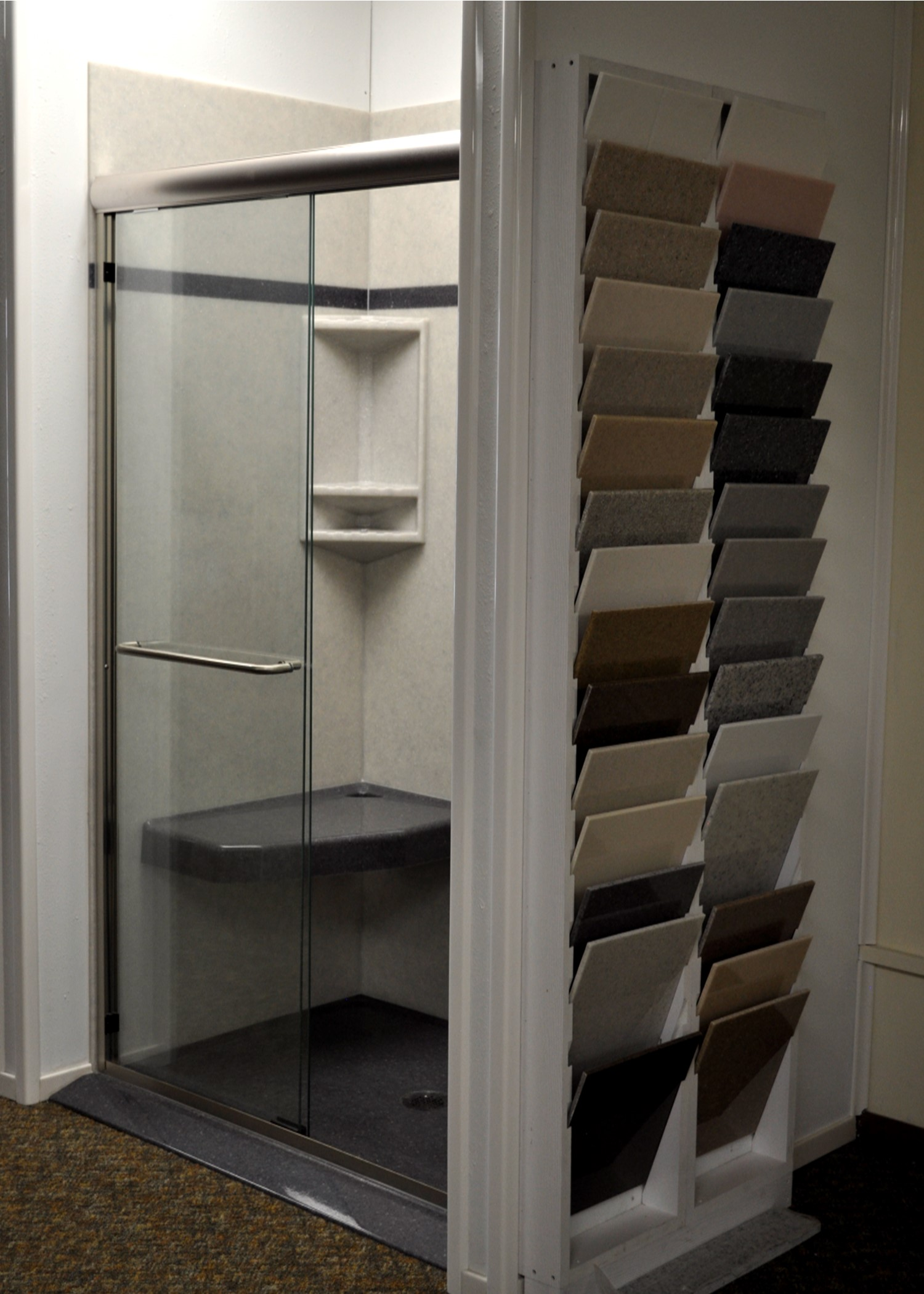 1 Onyx Shower with color samples